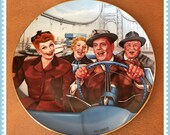 California Here We Come Plate,  I Love Lucy, The Hamilton Collection, By Jim Kritz, Vintage 1989