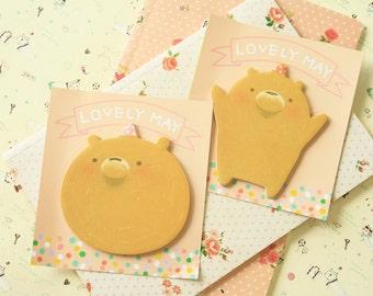 Lovely May cartoon bear sticky notes