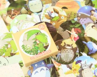 Totoro Cartoon Point Stickers cute deco stickers set