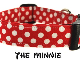 The Minnie - Red and White Polka Dot Dog Collar