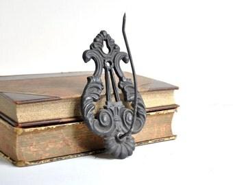 Cast Iron Wall Hook Receipt Holder / Antique Receipt Spike