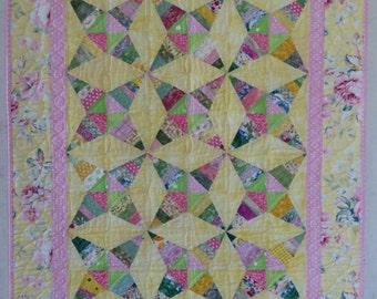 Scrappy Kaleidoscope Baby Quilt