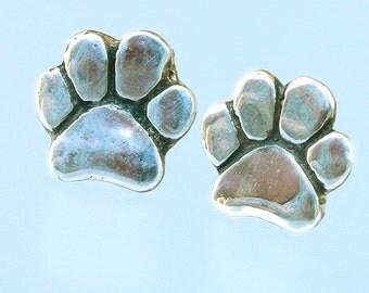 Dog Paw Post Earrings - Paw Earrings - Post Earrings - Dog Paw Jewelry - Paw Jewelry - Dog Jewelry - Animal Jewelry - Dog Lovers Jewelry