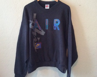 Vtg Nike Air Crewneck Black Sweatshirt