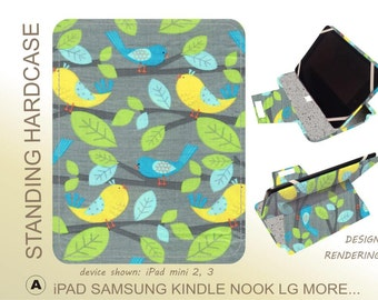 iPad 4 case Modern Bird tablet case - also fits iPad 2 and 3.  Ready to ship.