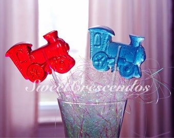 Thomas the Train Lollipops- Hard Candy Lollipops- Kids Party Favors- Birthday Party Lollipops