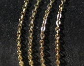 Trace Chain 2.1mm x 2.7mm Wire Loops Soldered No Open Links - Not Brass