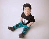 Knee patch leggings, baby leggings, baby boy leggings, blue and black, pants, baby boy pants, boys pants