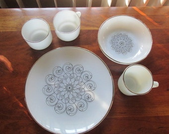 SPRING SALE :Anchor Hocking Dinnerware Vienna Lace - 23 Pieces
