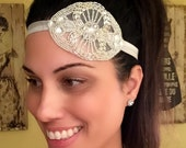 ON SALE Vintage 20's Inspired Headpiece, Flapper Headpiece, 20's Headband, Art Deco Headband