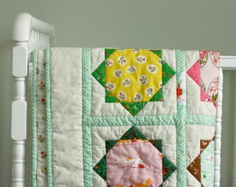 Vintage Inspired Baby Quilt