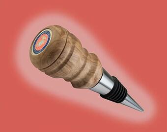 Marine Corps Bottle stopper - hand turned wood lathe