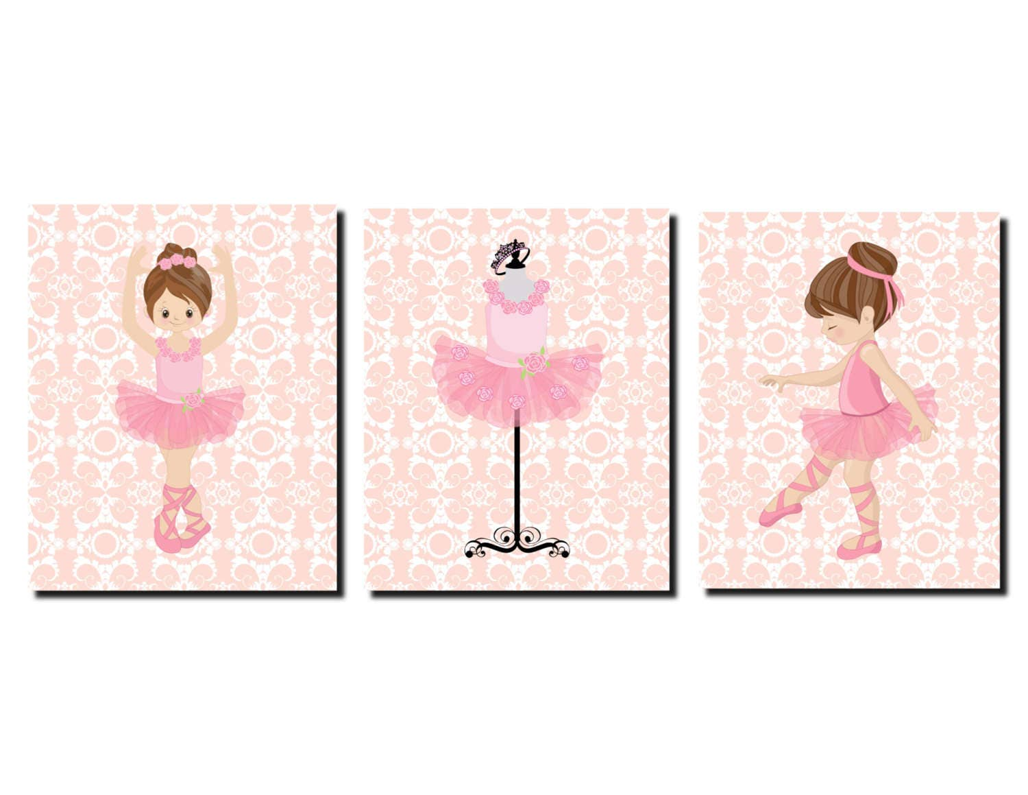 Baby girl nursery ballerina decor ballerina nursery art for Ballerina decoration