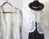 RESERVED ITEM lace cut out cardigan