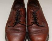 SALE Vintage mens L.L. Bean oxfords / classic brown leather oxfords