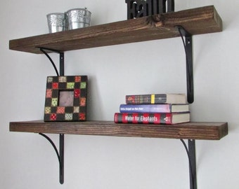 Shelves, Shelving, Bookshelf, Kitchen, Livingroom, Rustic Home Decor, Reclaimed Wood, Farmhouse, Bookshelves, Storage