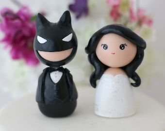 Custom Wedding Batman cake toppers