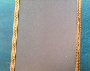 Vintage frame - Gold  Metal Frame - Aged Patina - Mid century - Wall hanging - standing Frame