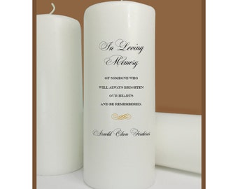 Memorial Candle, In Loving Memory, Wedding Memorial, Reunion Memorial