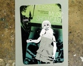 2014 Underground Music Showcase Girl - hand pulled screenprint poster
