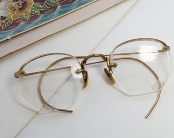 Very Old Fine Vintage Spectacles Glasses 12K GF