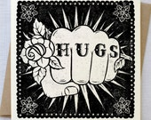 Hugs Tattoo Card