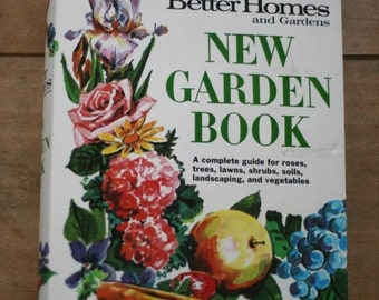 vintage better homes and gardens new garden book 1968