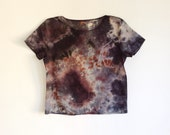 Hand Dyed Mineral Tee in Gray and Rust M/L