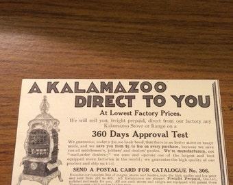 Circa 1905 Kalamazoo Stove Company ad