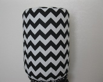 Black and White Chevron  Dispenser Cover-Water Bottle Cover-Home Decor Water Bottle