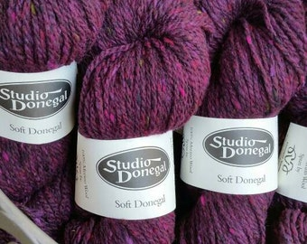 SIX Skeins Berry Studio Donegal Irish Tweed 100 % Merino