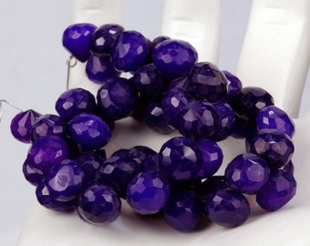 ON SALE Purple Chalcedony Onion Beads Briolettes Candy Kisses Faceted  Earth Mined Gemstone - 15 Briolettes - 6x6mm