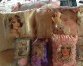 Victorian pillows, 4 , and sachets 1, res for kitty (3 free)