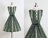 Coquette II . vintage 1950s dress . vintage cotton dress . 5468