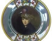 "Portrait of a Bird Brain - Altered Vintage Plate 6.15"""