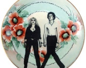Sid and Nancy Portrait Plate - Altered Vintage Plate 8.4""