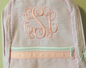 Monogrammed Toddler Preschool Backpack