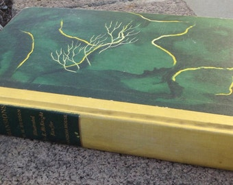 Green Mansions Vintage Illustrated Hardcover Book 1944 Random House by W. H. Hudson Green Yellow Cover