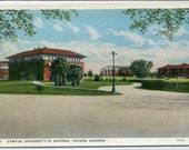 Campus View University Arizona Tucson AZ 1930s postcard