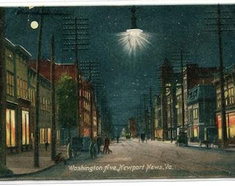 Washington Avenue Newport News Virginia 1908 postcard