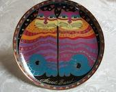 Laurel Burch Cat Plate, Friendly Felines - Royal Doulton, Franklin Mint