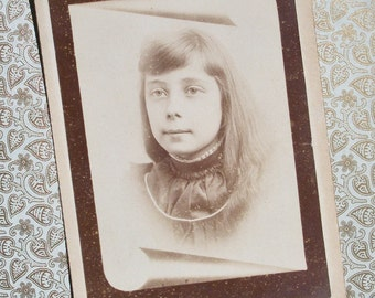 Memorial Cabinet Card - Blanche Hughes from Waynesburg, PA, child