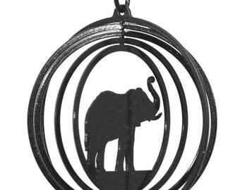 Elephant Tini Swirly Metal Wind Spinner