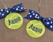 Tennis Bow Bag Tag Tennis Gift Tennis Bag Tag Tennis Mom Gift Tennis Coach Gift Tennis Party Favor Tennis Team Gift Bag Tag Personalized