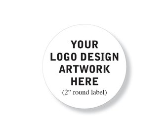 """100 Custom Professional Company Business Logo Design Labels Stickers 2"""" round"""