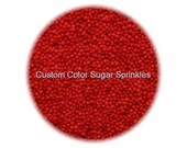 RED NONPAREILS Edible Sprinkles Cakepops Cupcake CandyConfetti Decorations 2oz.
