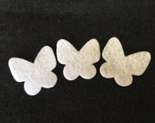 Felt Mini White Butterflies #2 -DIY Kits for Independent Consultants Parties-Hair Accessories Decorations-Costume Embellishments