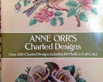 Needlework charted designs Anne Orr cross stitch needlepoint crochet petit point filet
