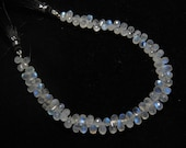 Rainbow Moonstone - 8 Inches - AAA - High Quality Micro Faceted Tear Drops Briolettes Gorgeous Blue Flashy Fire sparkle size - 5 - 7 mm Long