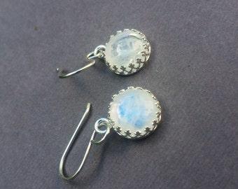 Moonstone Earrings, Rainbow Moonstone, Moonstone Jewelry, Drop Earrings, June Birthstone, June Birthday, Moonstone Drop, Moonstone Wedding